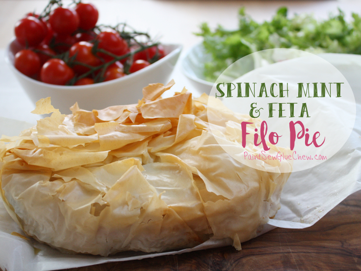 feta filo pie spinach and mint