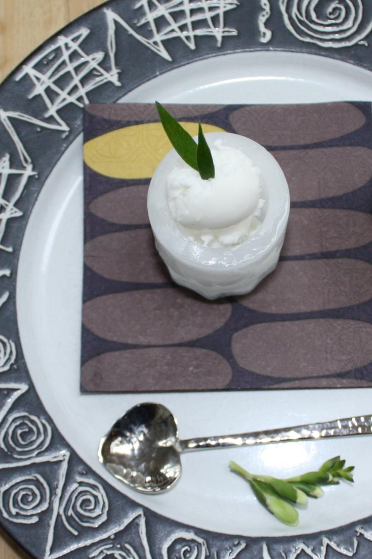 Lemon Sorbet Shots with Limoncello
