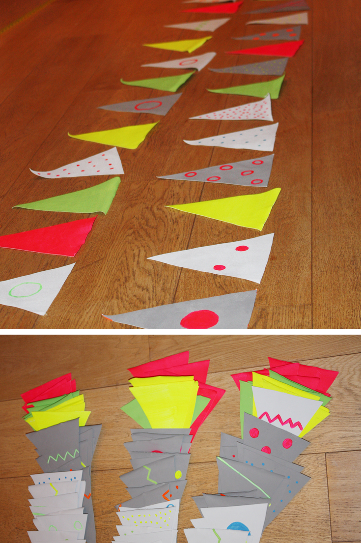 Neon Hand Painted Bunting