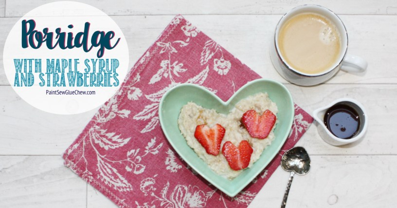 Porridge with Maple Syrup and Strawberries
