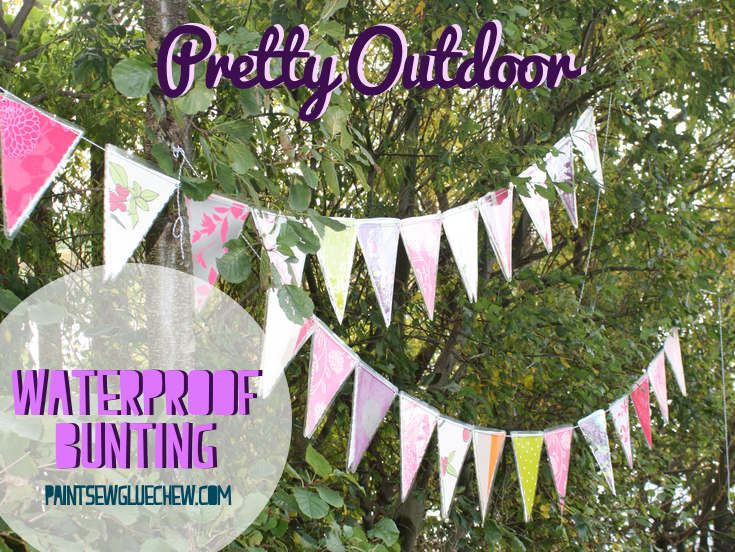 Pretty Outdoor Weatherproof Bunting DIY