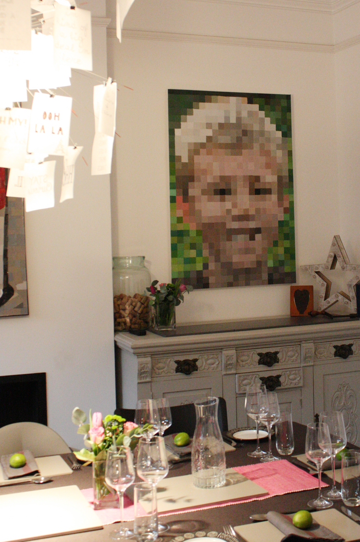 Pixelated wall art