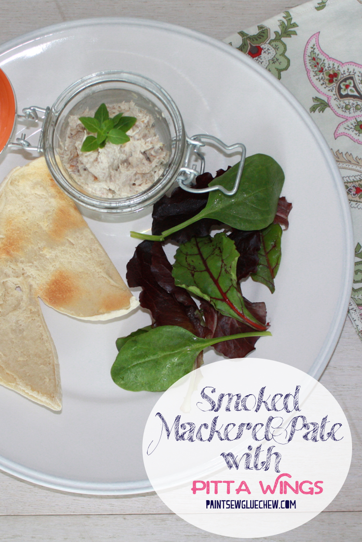 Smoked Mackerel Pate With Toasted Pitta Wings