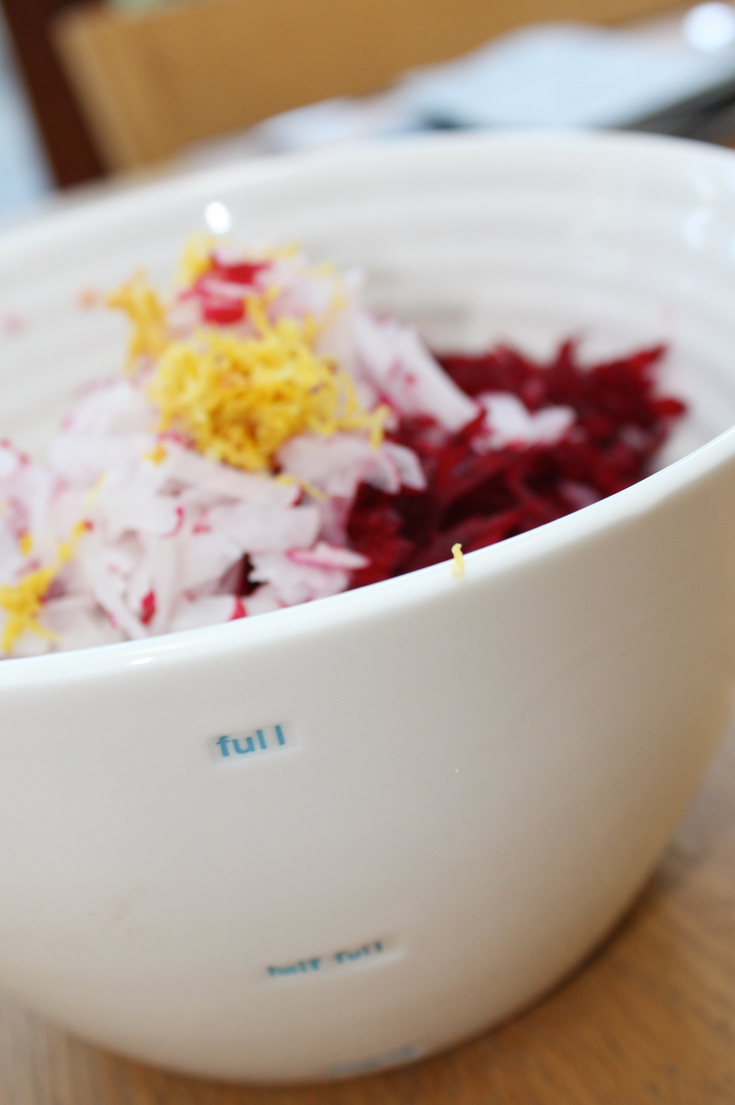 Beetroot Coleslaw With Carrot and Lemon