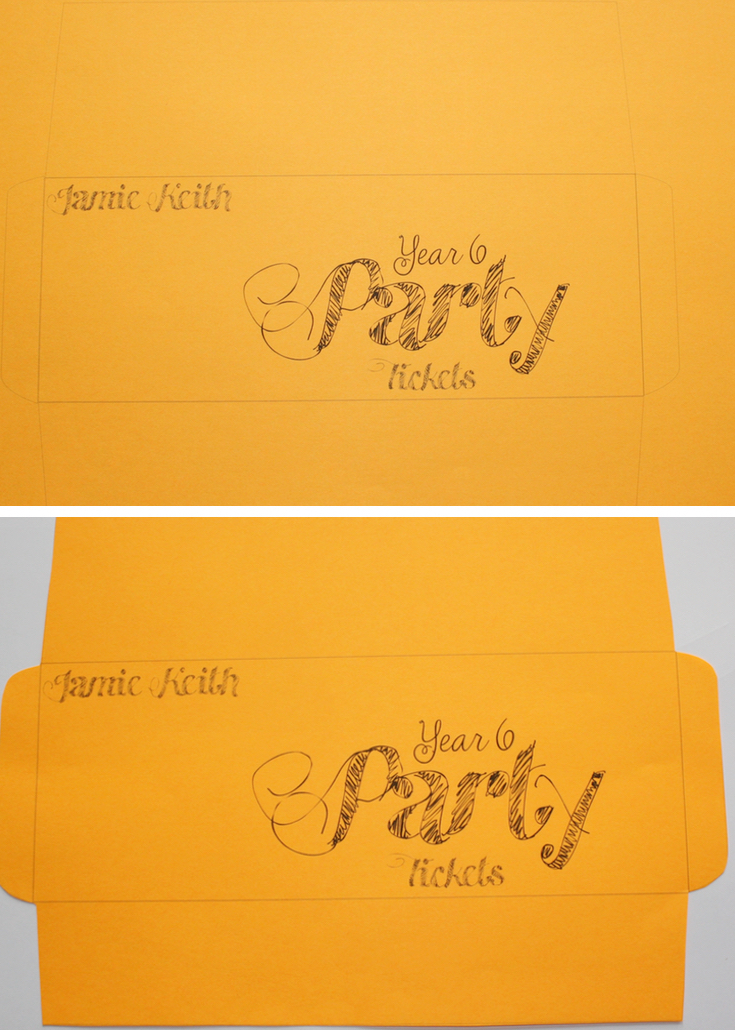 Neon Printable Envelope Diy