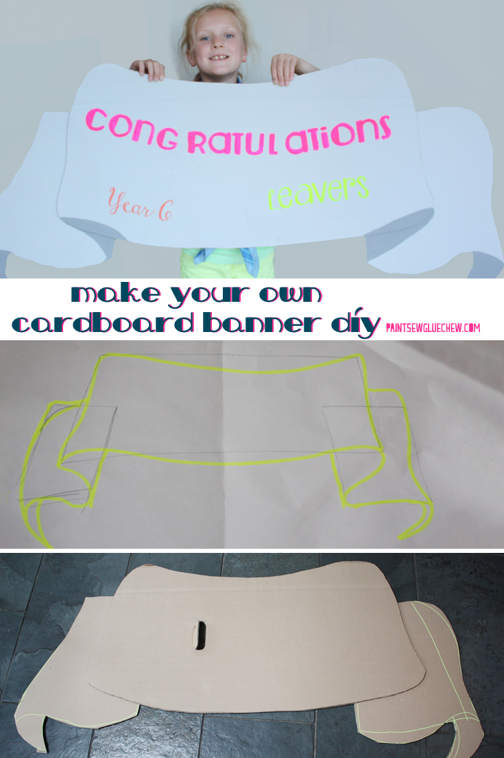 How To Make A Painted Cardboard Banner