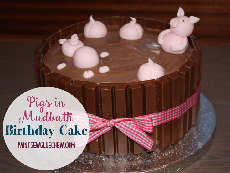 Pig Cake with Pigs in a Mud Bath