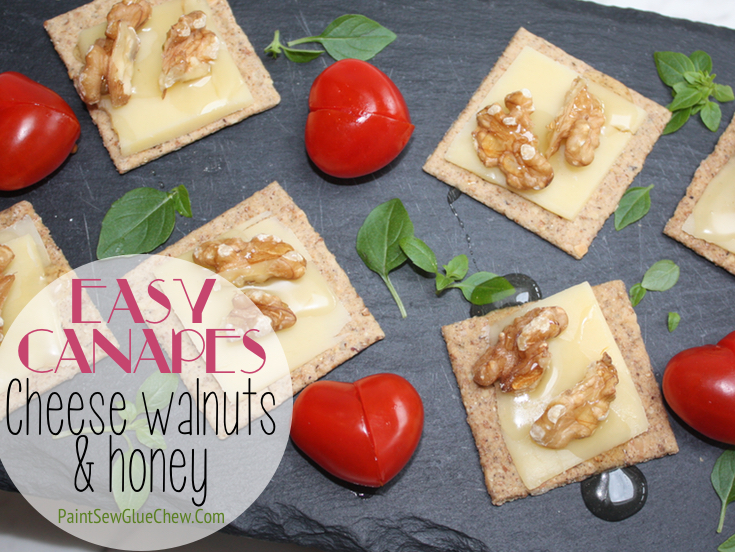 Cheese Walnut and Honey Nibbles