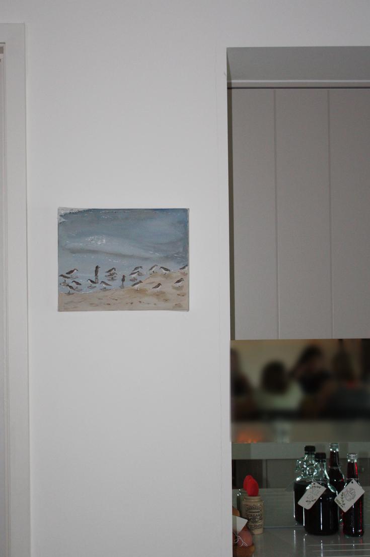 Sandpiper Painting on Mini Canvas