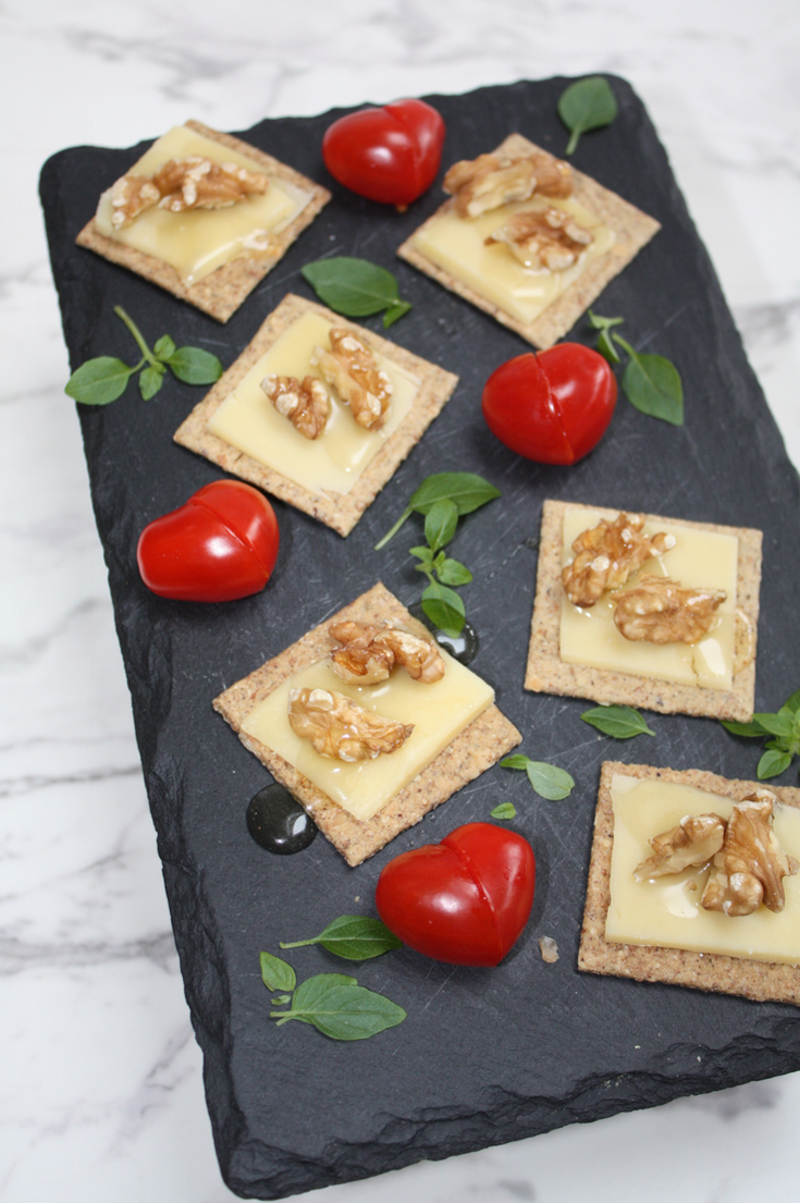 Cheese Walnut and Honey Nibbles - PaintSewGlueChew