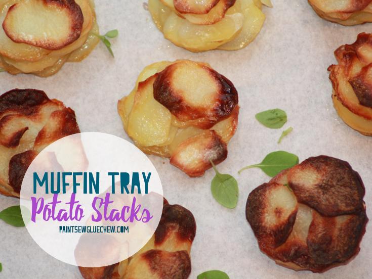 Potato Stacks in a Muffin Tin