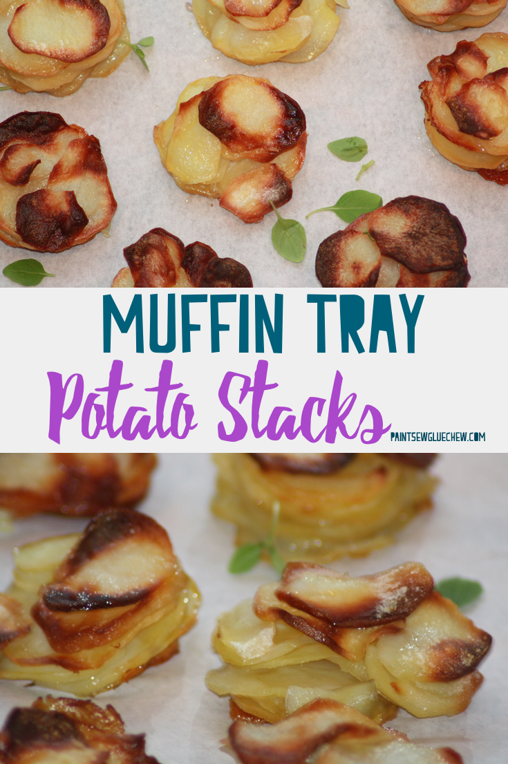 Potato Stacks in a Muffin Tin