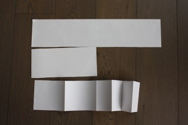 Giant folding card instructions