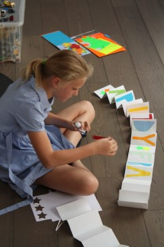 Giant folding card craft with kids