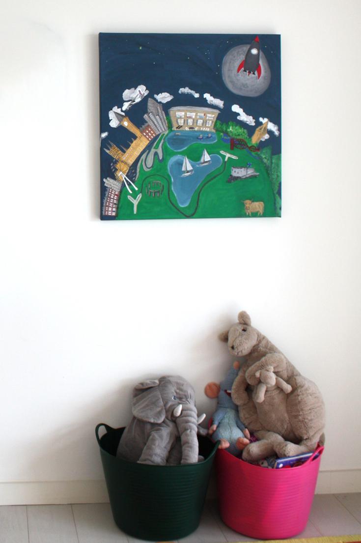 Kids Wall Art Ideas Paintsewgluechew