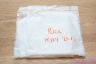 Freeze rice instructions
