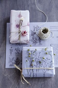 Real Flower gift wrap