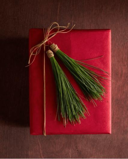 Fir Tassle gift wrap