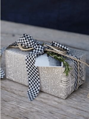 Gift Wrap Ideas (2): Recycled Materials