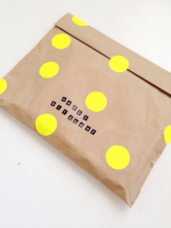 Neon Dot Gift Wrap idea