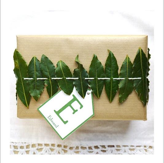Bay Leaf gift wrap