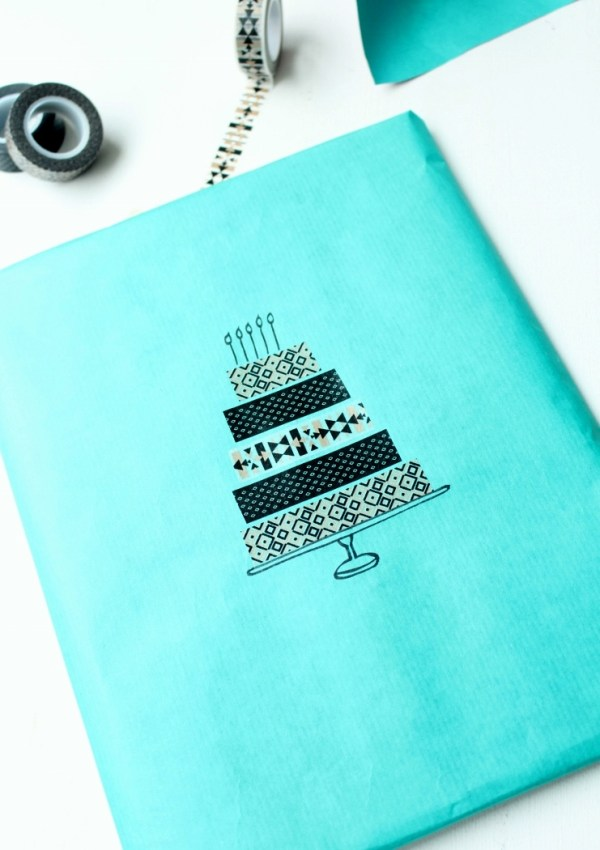 Gift Wrap Ideas (3): Washi Tape Gift Wrap