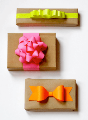 Contemporary neon Bows diy