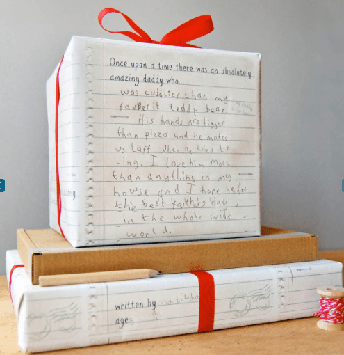 Fathers day gift wrap idea