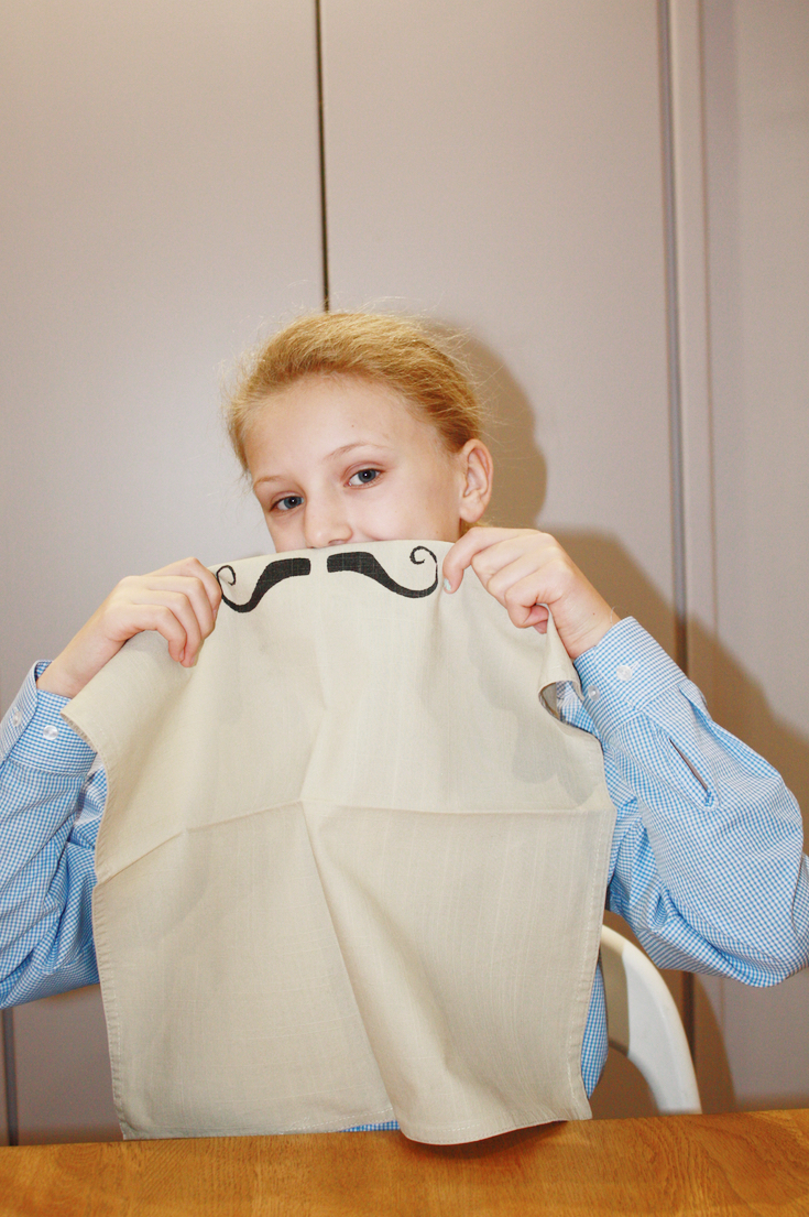 Movember Inspired Moustache Napkin DIY