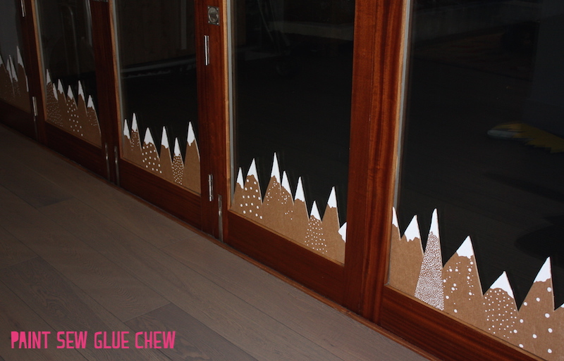 Cardboard Mountain Christmas Decorations
