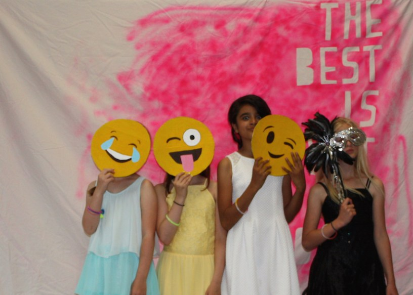 Emojis in a photo booth