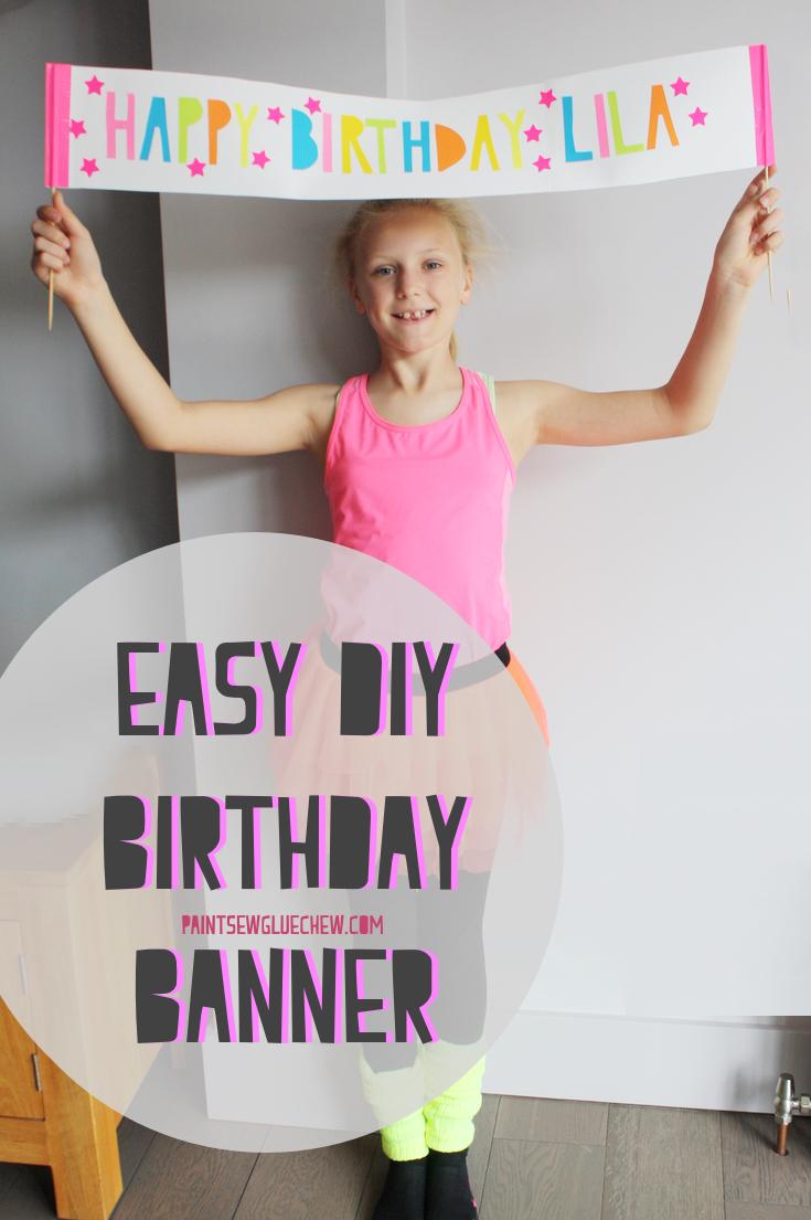 Birthday Banner Diy Paintsewgluechew