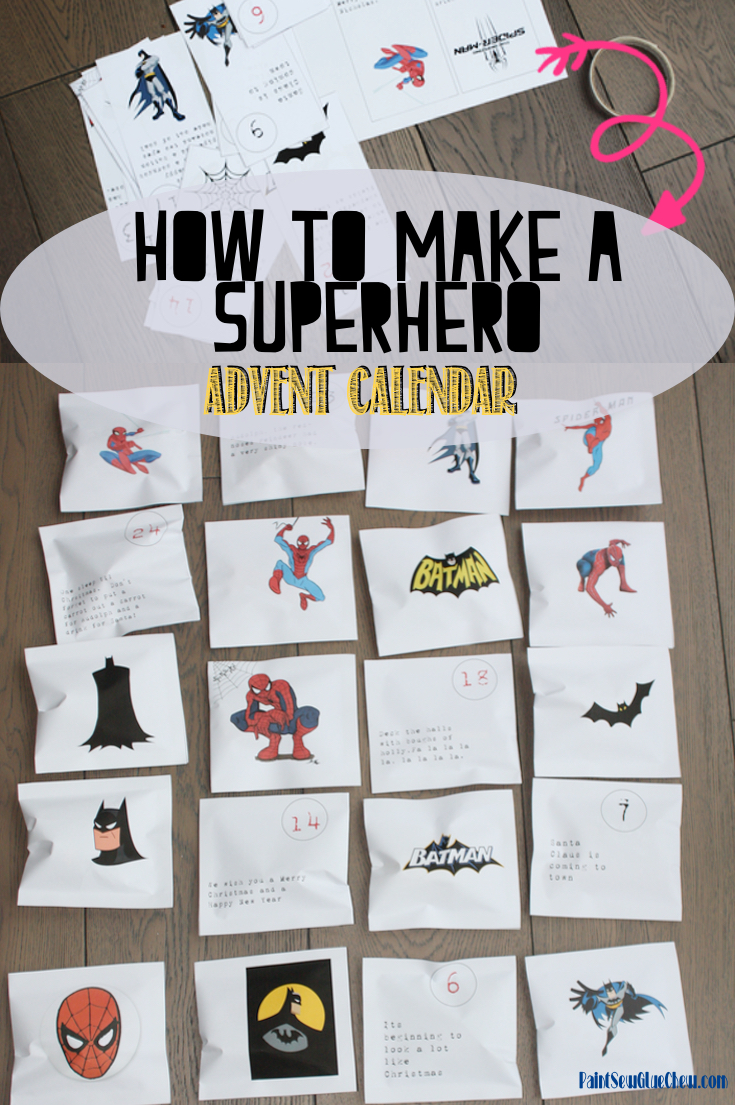 DIY Superhero Advent Calendar