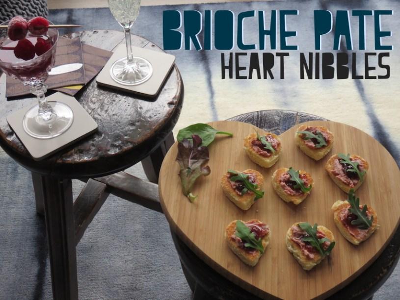 Brioche pate heart nibbles