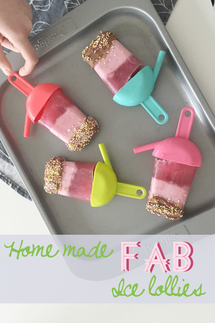 Homemade fab ice lollies