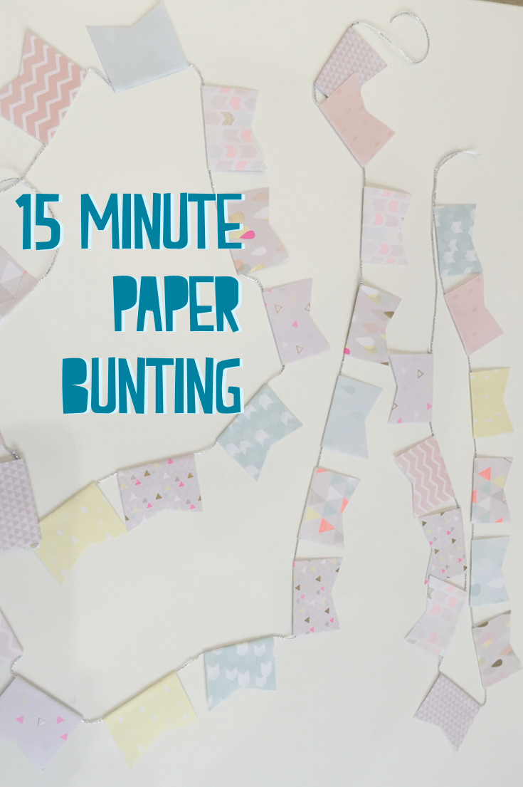 15 minute bunting DIY