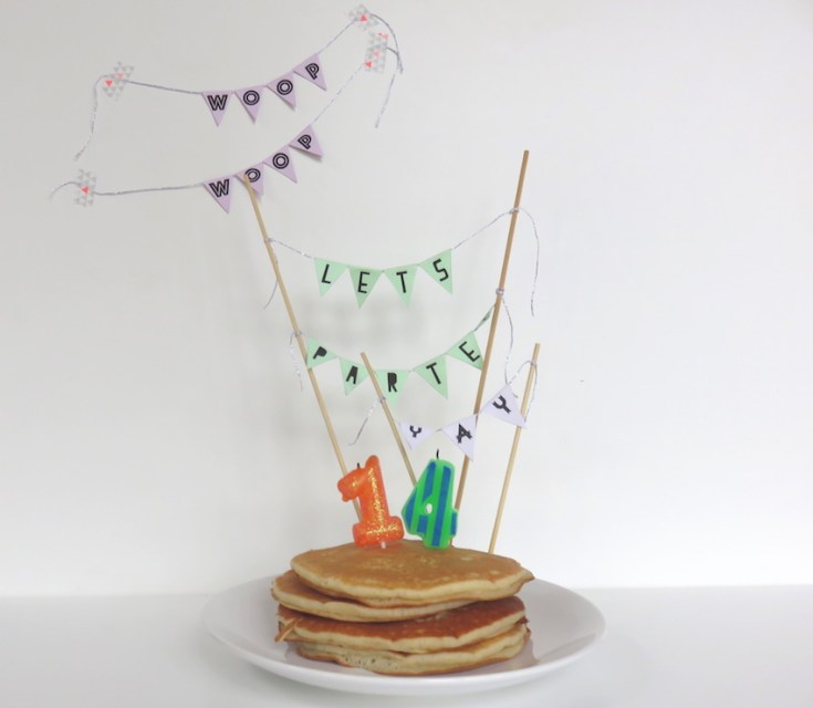 Cake bunting ideas