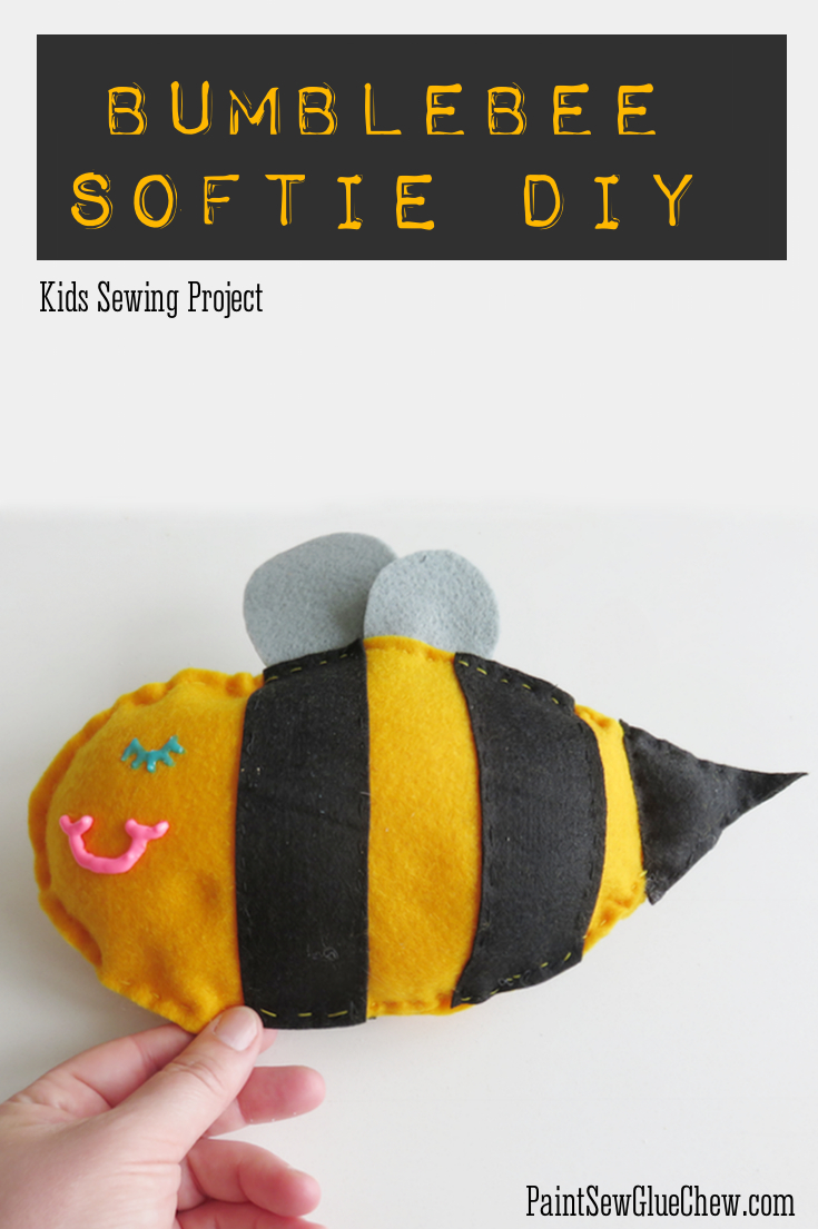 bumblebee softie tutorial