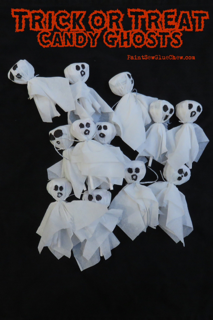Trick or Treat Candy Ghosts