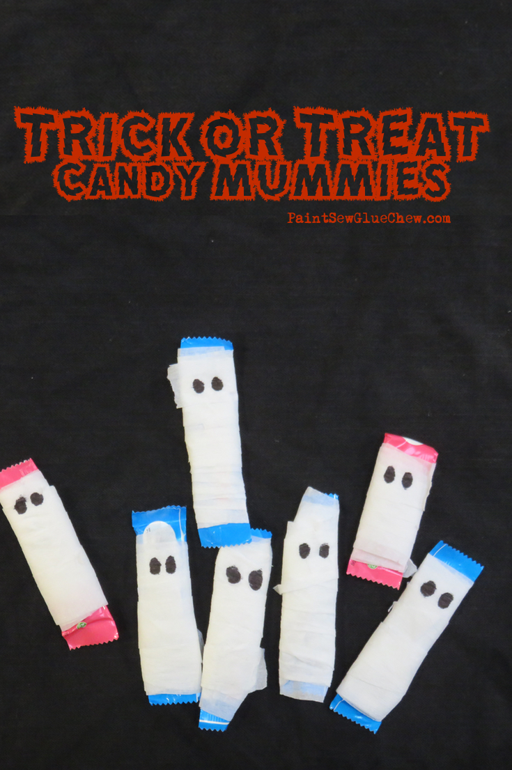 trick or Treat Candy Mummies