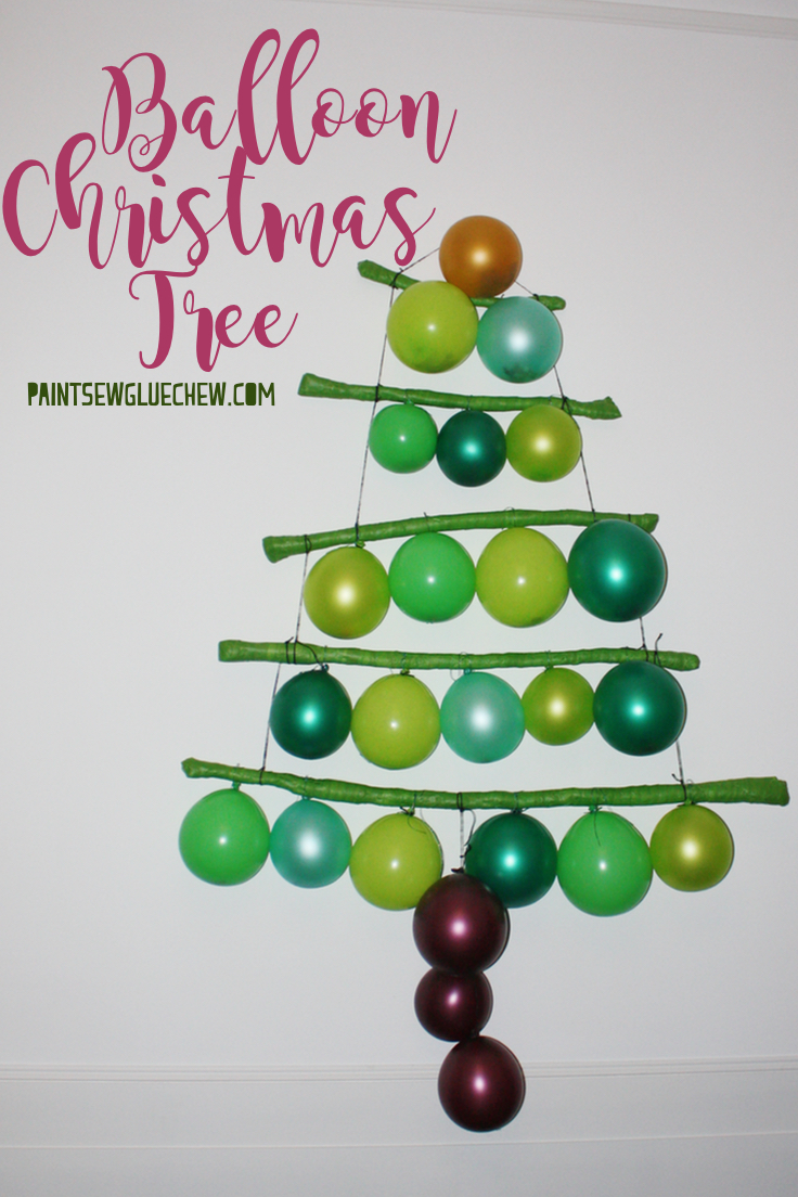 Christmas Tree made from balloons
