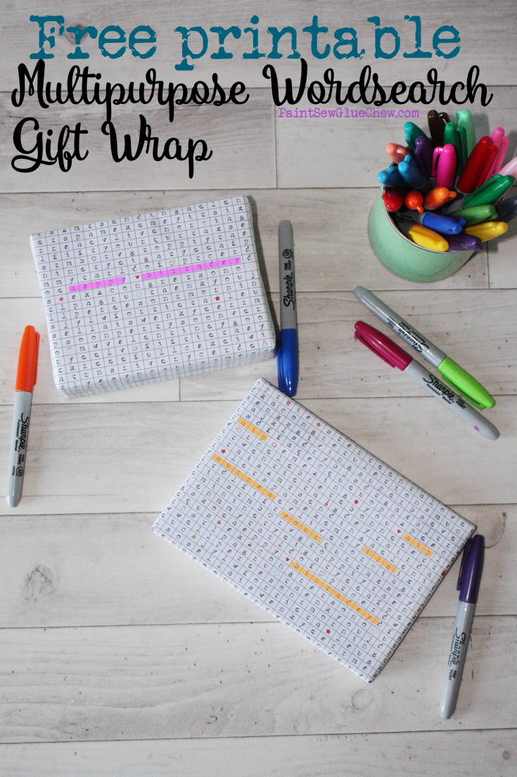 word search gift wrap
