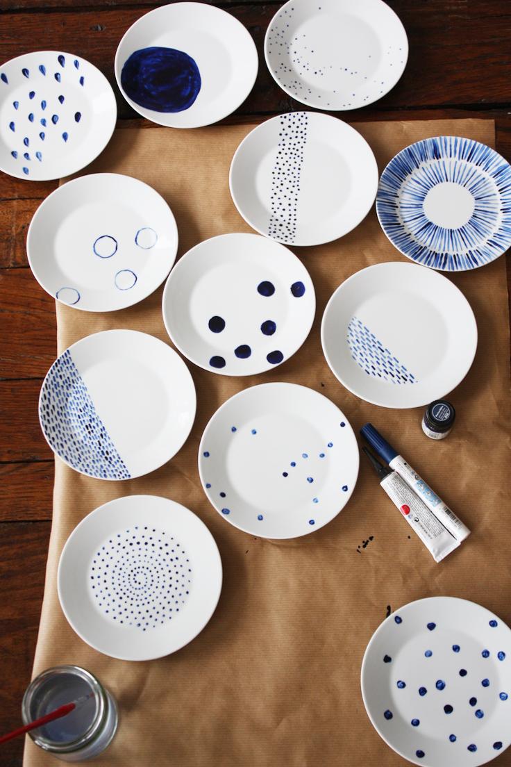 ... hand painted plates & Hand Painted Plates Ikea Hack £1 each - PaintSewGlueChew