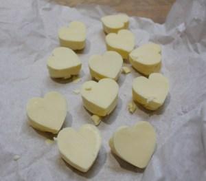 Heart shaped butter