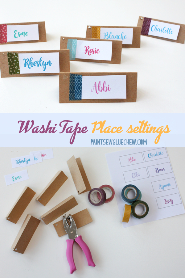 Washi Tape Place Settings