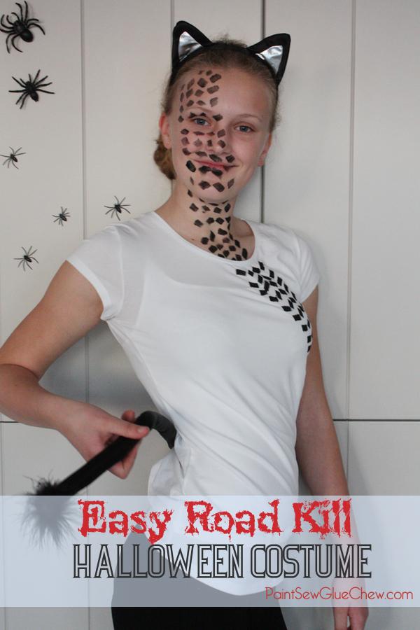 unique halloween costume ideas EASY road kill costume