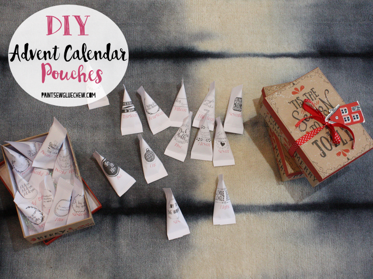 Print and fill advent calendar