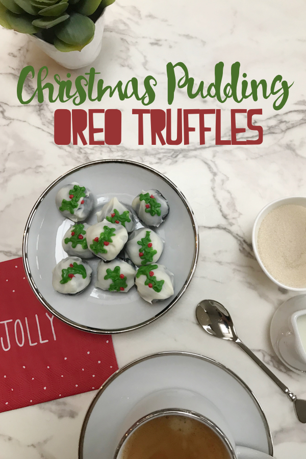 Easy Christmas Pudding Oreo Truffles