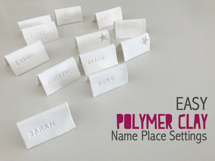 Polymer Clay name place settings