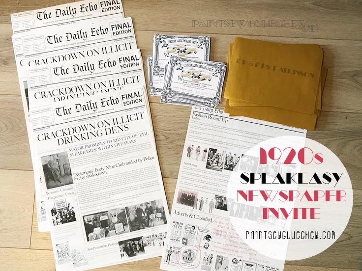 Handmade 1920 newspaper